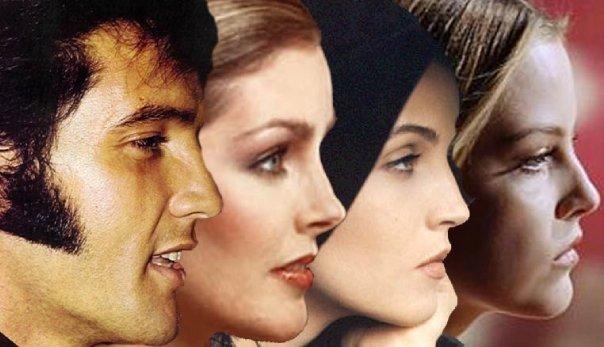 Elvis, Priscilla, Lisa & Riley