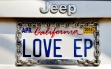 Love EP License Plate